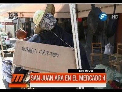 """San Juan con """"Judas Kái"""" con el nombre de Cartes"""