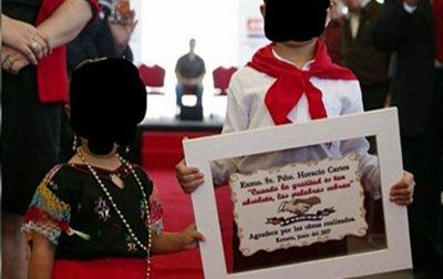 Niñez: Es inadmisible uso de niños para propaganda política