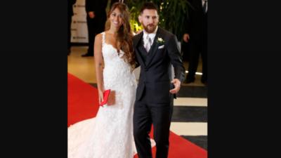 """Messi y Roccuzzo dieron el """"sí"""" ante unos 260 invitados"""