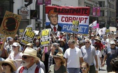 Marchas en EE.UU. para pedir la destitución de Trump