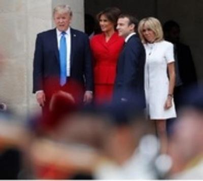 """""""Estás en muy buena forma"""", el saludo de Trump a la esposa de Macron"""