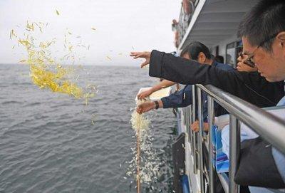 Cenizas de Liu Xiaobo fueron arrojadas al mar