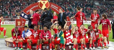 Lorenzo Melgarejo es supercampeón con el Spartak de Moscú