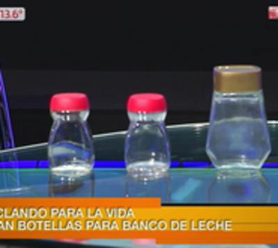 Reciclá para la vida: Juntan frascos de vidrio para el Banco de Leche