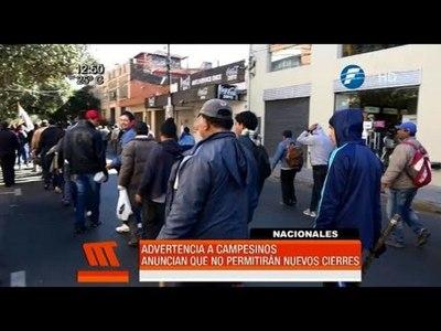 Ministro del Interior advierte que no permitirá más bloqueos de campesinos