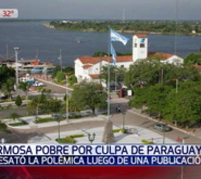 """Paraguay """"contagió"""" pobreza a Formosa, según artículo periodístico"""