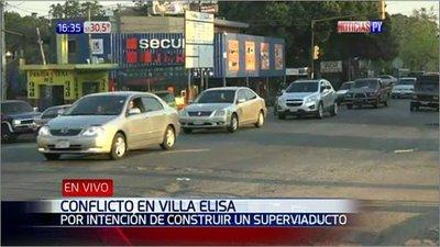 Comerciantes se oponen a viaducto en Villa Elisa