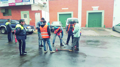 Avanzan obras de reestructuración en el corredor central del Metrobús