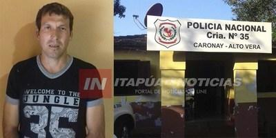 POLICÍA DA CON UN PRÓFUGO DE LA JUSTICIA ARGENTINA