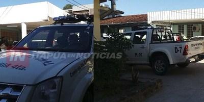 ENFRENTAMIENTO A TIROS ENTRE POLICÍA Y DELINCUENTE EN SAN PEDRO DEL PNÁ