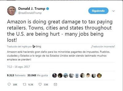 ¿Por qué Trump arremete contra Amazon?