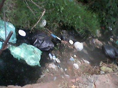 Basuras en arroyo San Lorenzo