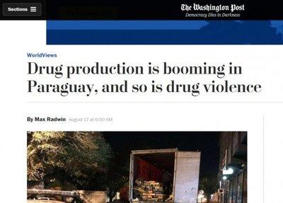 El problema del narcotráfico crece en Paraguay, según The Washington Post