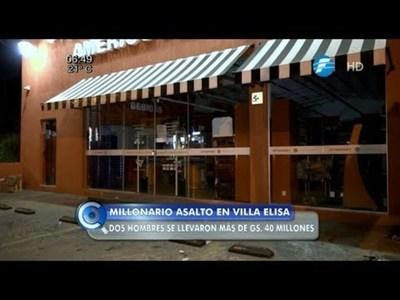 Millonario asalto a un local en Villa Elisa