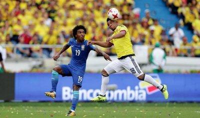 Colombia salva un punto de local ante Brasil