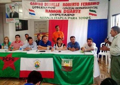 Frente lanza candidato en Itapúa