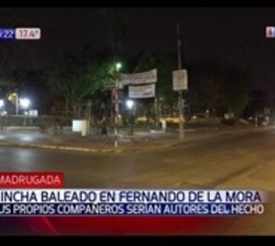 Balearon un hincha en Fernando de la Mora