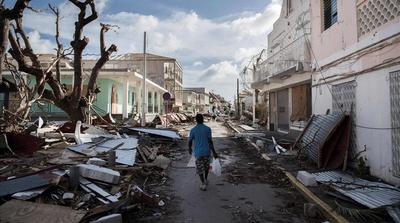 Los líderes europeos visitan las islas dañadas