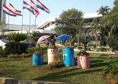 Asunción: pintorescas planteras en primavera
