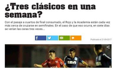 En Argentina ya piensan en una semifinal Independiente-Racing