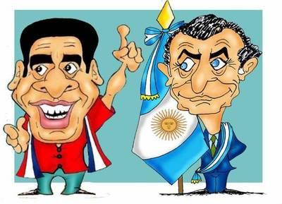 Horacio Cartes y el titular de la Conmebol visitaron al presidente argentino
