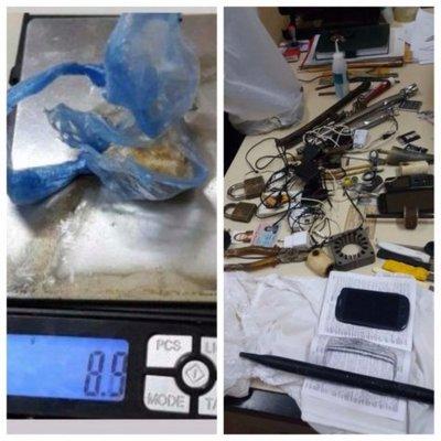 Incautaron celulares y drogas en penal Esperanza