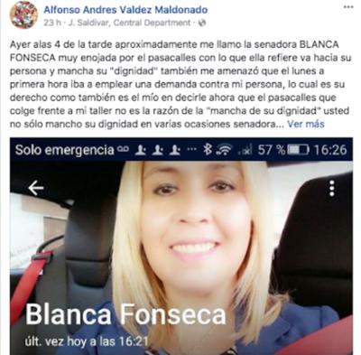 """Senadora molesta por pasacalle: """"Ni a Díaz de Vivar (arbitro) le retaron tanto como a mí"""""""