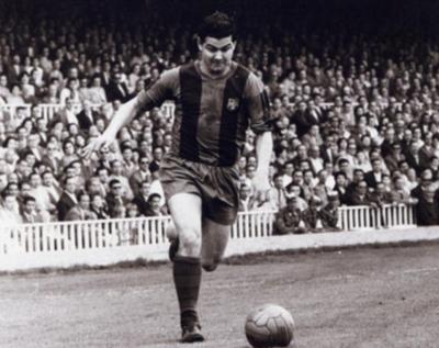 Martínez y el primer grito en el Camp Nou
