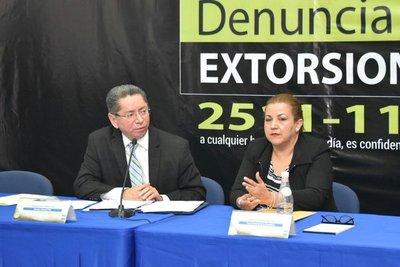 Campaña busca denuncias de extorsiones
