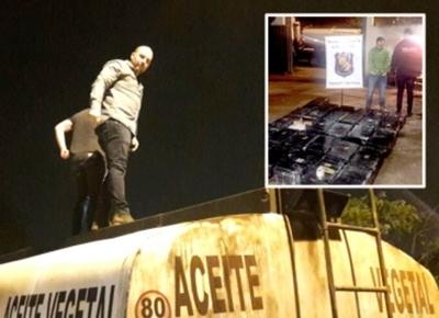 Detienen a chofer que trasportaba en camión  cisterna más de media tonelada de marihuana