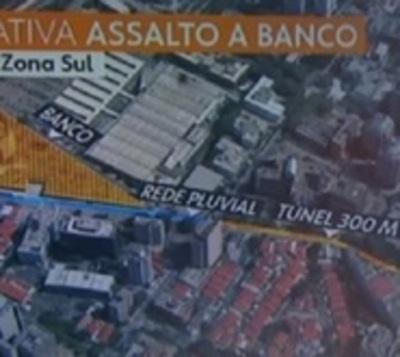 Túnel para intento de robo a banco fue hecho con dinero paraguayo
