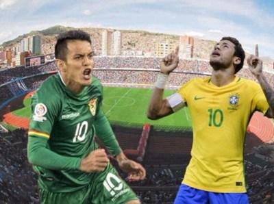 Bolivia y Brasil juegan en La Paz