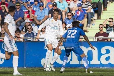 Cristiano salva al Real Madrid ante el Getafe