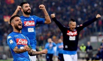 Napoli vence a Roma y se consolida en la punta