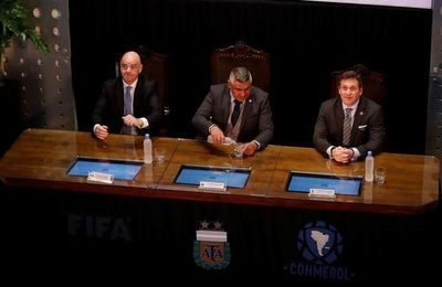Infantino dijo que el fútbol es hoy lo que es, gracias a Argentina