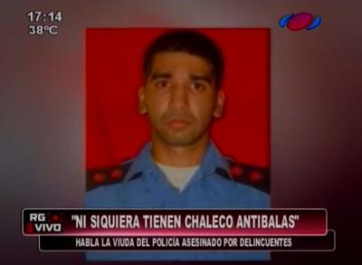 Policía asesinado ni siquiera tenía chaleco antibalas