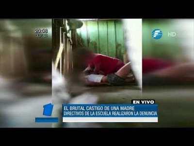 Brutal castigo de una madre a su hija indigna al país