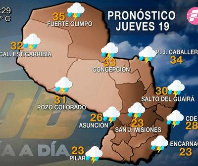 Sistema de tormentas ingresando sobre nuestro territorio nacional