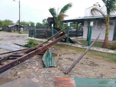 Temporal golpeó a la localidad de Puerto Guaraní