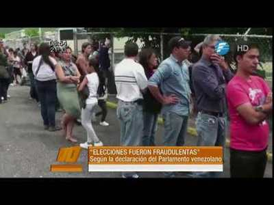 En Venezuela denuncian elecciones fraudulentas