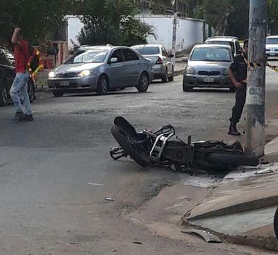 Choque deja un motociclista fallecido en San Lorenzo