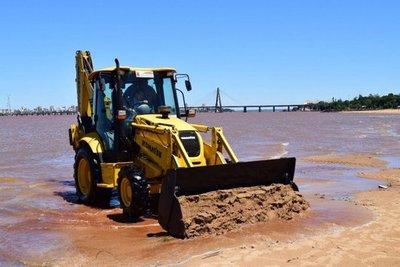 Municipalidad de Encarnación inicia obras en las playas