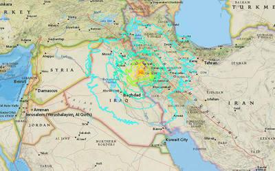 Fuerte terremoto sacude Irán e Irak
