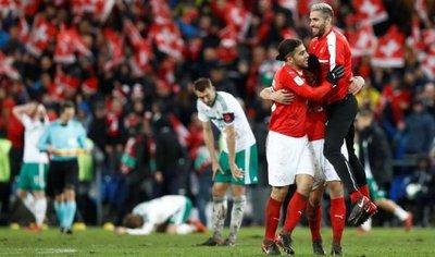 Suiza sufre hasta el final, pero clasifica para Rusia