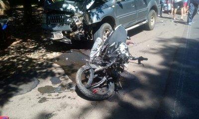 Policía murió tras ser chocado en Paraguarí