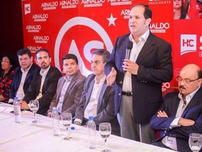 """""""Arnaldo Samaniego estamos con vos, esta es una campaña de los amigos"""""""