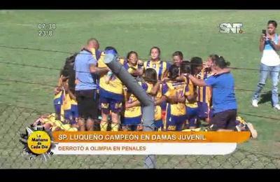 Capiatá y Luqueño sorprendieron en el fútbol femenino