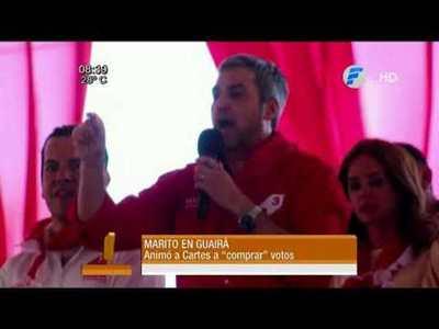 Mario Abdo desafía a Horacio Cartes a comprar votos