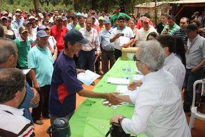 Entregarán 838 certificados de adjudicación de lotes agrícolas en Canindeyú