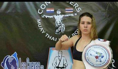 La paraguaya Araceli Fornera peleará por el título mundial de Muay Thai